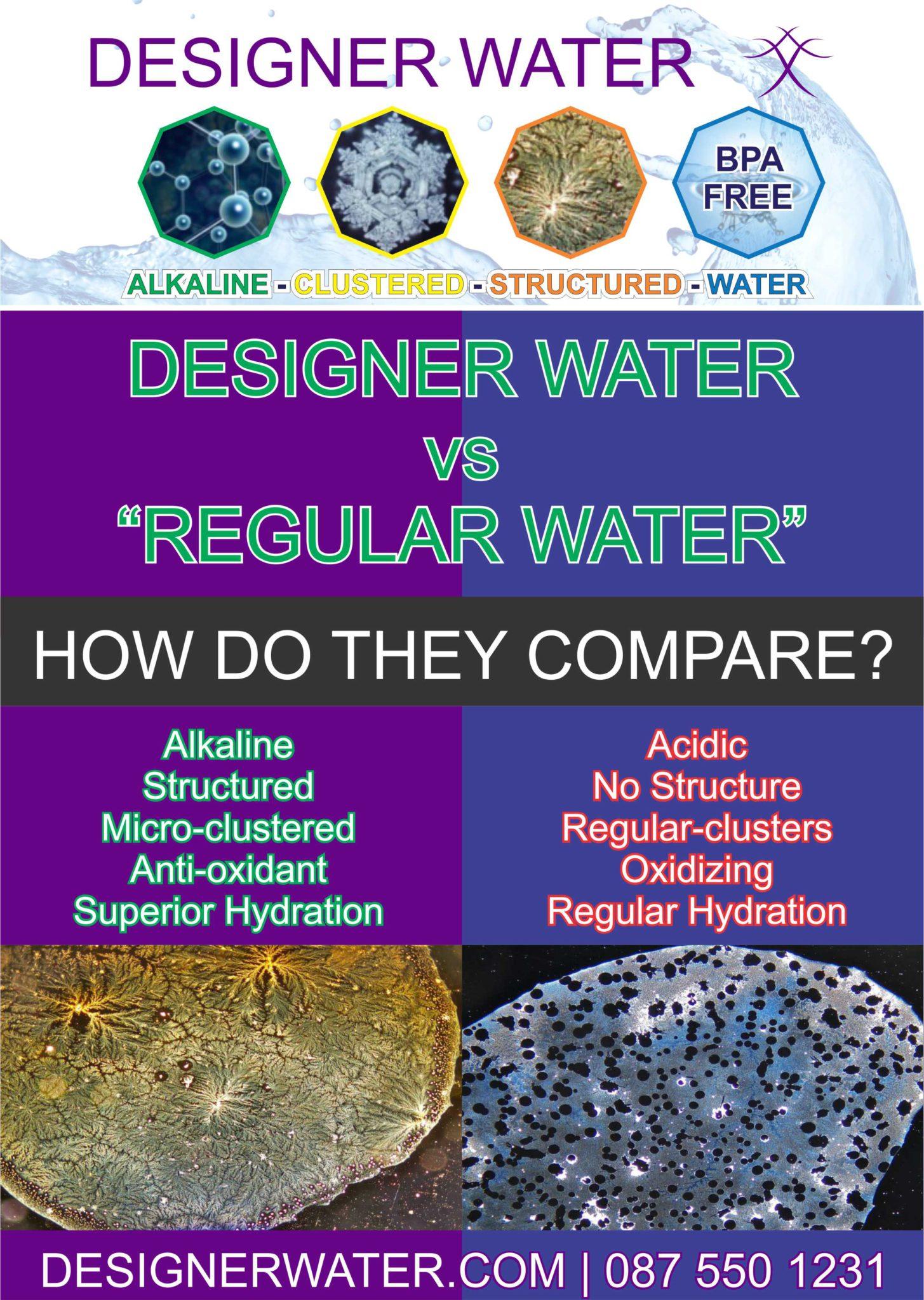 Designer Water vs Regular Water