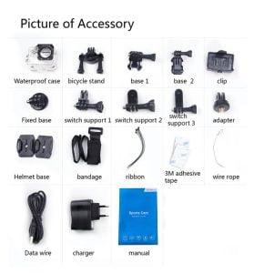SJ4000 wifi accessories