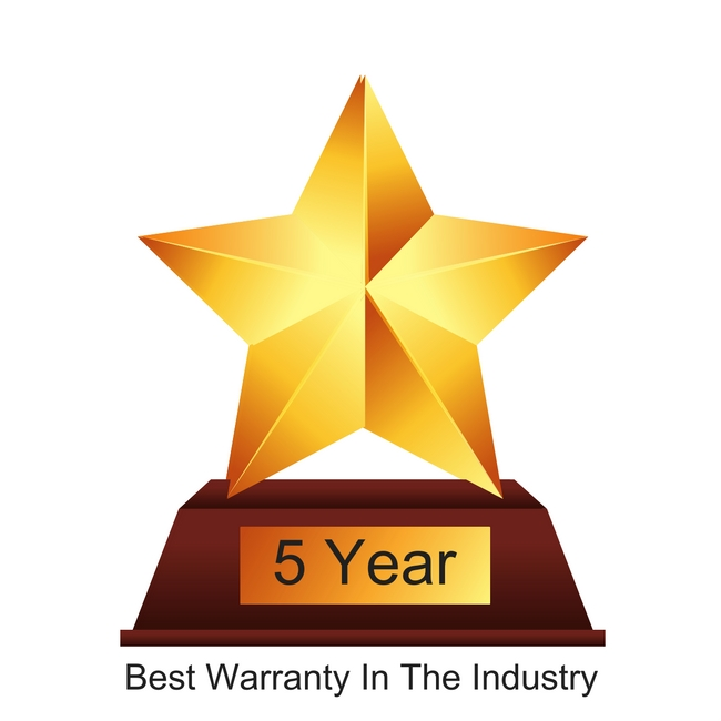 5 year warranty on all water ionizers