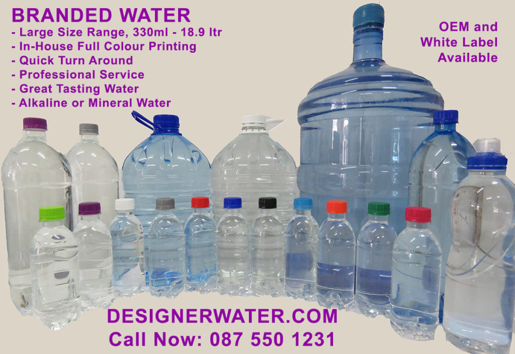 Designer Water Branded Water bottles