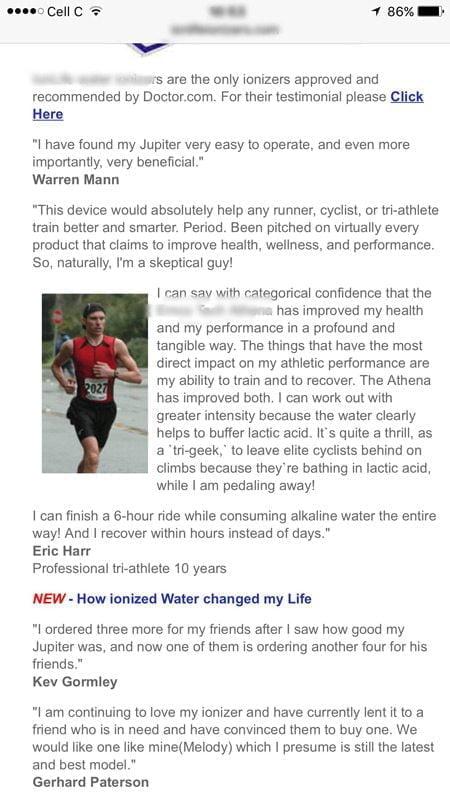 Real Testimonial Alkaline Water