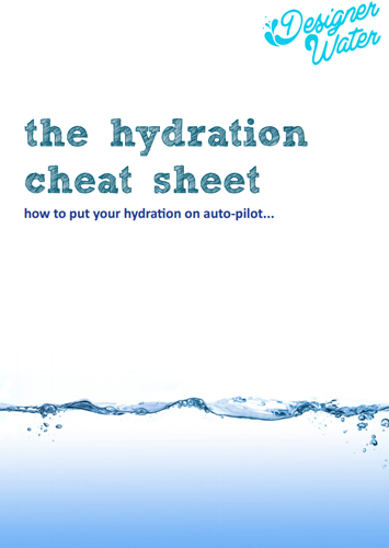 the ultimate hydration cheat sheet