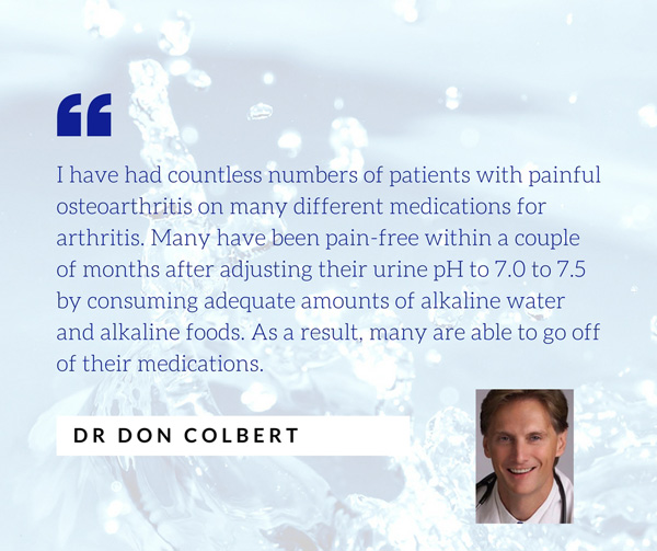 dr don colbert talks about how alkaline water helps patients go off their medications