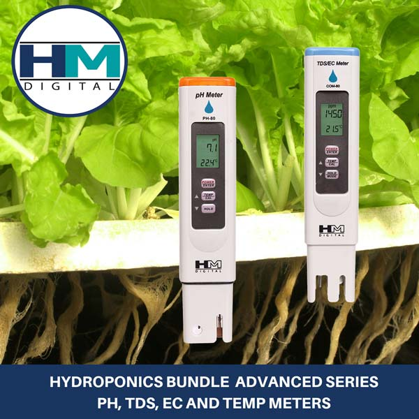 Hydroponics Bundle, Advanced pH Meter And TDS Meter Combo