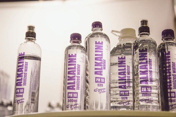 designer water alkaline bottled water