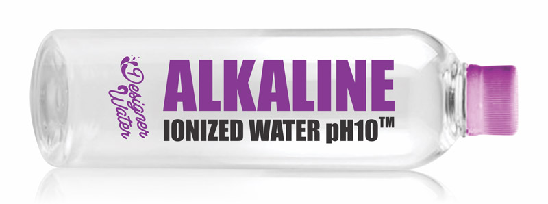designer water alkaline water bottle